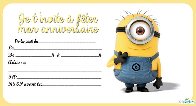 Carte invitation anniversaire gratuite garcon 8 ans for Idee deco trackid sp 006
