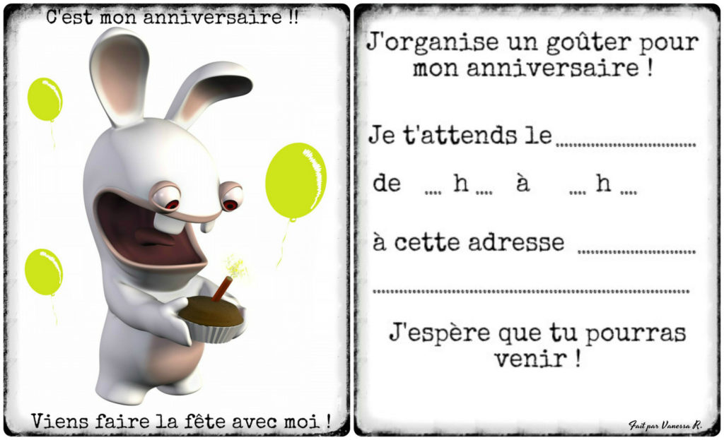 image carte invitation anniversaire gratuite garcon 8 ans. Black Bedroom Furniture Sets. Home Design Ideas