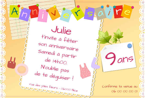 carte anniversaire 5 ans fille. Black Bedroom Furniture Sets. Home Design Ideas