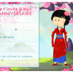carte t invitation d'anniversaire