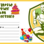 carte anniversaire rugby a imprimer