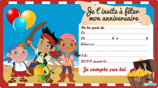 Carte Anniversaire Pirate Moderne