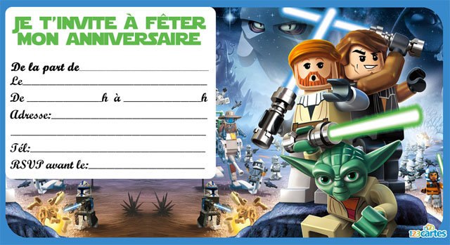 idée de carte virtuelle animee anniversaire star wars