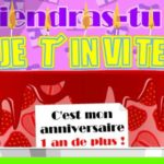 carte invitation anniversaire web gratuite
