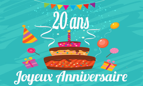 Photo Carte Anniversaire Humour 20 Ans Gratuite
