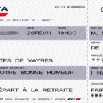 carte anniversaire billet d'avion