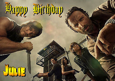 carte anniversaire walking dead